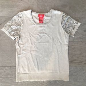 Ivory shirt with lace